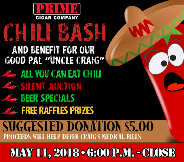 2018 Chili Cook-Off MAY 11, 2018