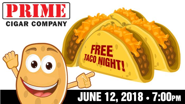 Free Taco Night June 12, 2018 7pm