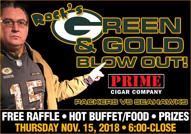 Rock's Green & Gold Blowout Nov 15, 2018