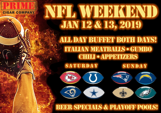 NFL Weekend: Jan 12/13,2019 10:00 a.m. - 6:00 p.m.