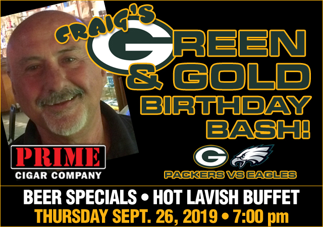 Uncle Craig's Green and Gold Birthday Bash!